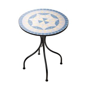 PALAZZO - τραπέζι Δ55cm μπλε-κρεμ