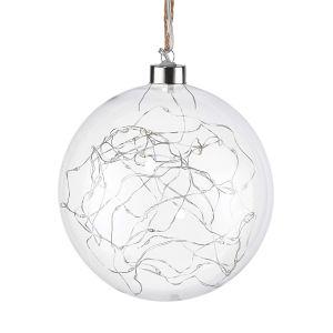BALLROOM - κρεμαστή μπάλα με LED 40L O15cm διαφανής