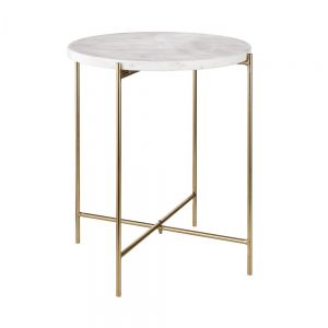 MARBLE - τραπέζι μικρό με μαρμάρινη επιφάνεια
