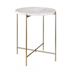 MARBLE - βοηθητικό τραπέζι με μαρμάρινη επιφάνεια, πτυσσόμενο