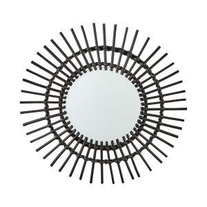 COTTAGE - καθρέφτης μαύρος O 55 cm
