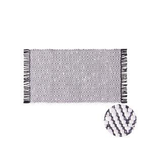 ETHNO LODGE - χαλί 60x90 με ρόμβους μαύρο-λευκό