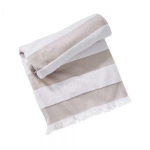 NORDIC SEA - πετσέτα θαλάσσης με ρίγες, 180x90, ταμπά