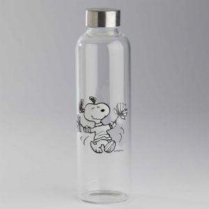 PEANUTS - γυάλινο μπουκάλι Snoopy μαζορέτα