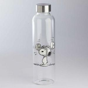 "PEANUTS - γυάλινο μπουκάλι Snoopy ""αρσιβαρίστας"""