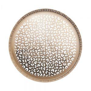 PANTHERA - δίσκος μεταλλικός leo χρυσό 31 cm