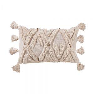 EASY ETHNO - Μαξιλάρι με φούντες και διακοσμητικά 60x35 cm