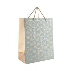 "X-MAS - τσάντα δώρου ""αστέρια"" μεγάλη"