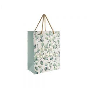 "X-MAS - τσάντα δώρου ""Merry Christmas"" μεσαία"