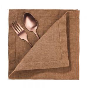 RIGA LINEN - πετσέτα, 42x42 cm, cinnamon