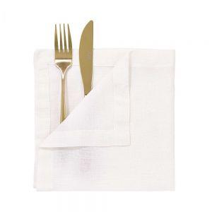 RIGA - Λινή πετσέτα 42x42 cm, λευκή