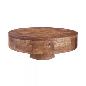 MANGO DAYS - διακοσμητικό πιάτο με βάση, από ξύλο mango 35 cm