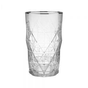 UPSCALE - ποτήρι με ασημί φινίρισμα 460ml