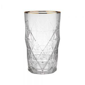 UPSCALE - ποτήρι με χρυσό χείλος