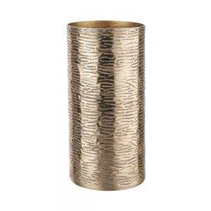 AUREO - μεταλλικό βάζο 20cm, χρυσό