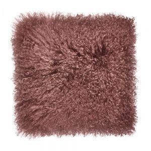 TASHI - μαξιλάρι από θιβετιανό αρνί 40x40 τερακότα