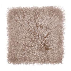 TASHI - μαξιλάρι από θιβετιανό αρνί 40x40  ταμπά