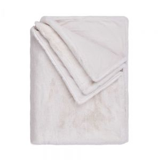 WILD THING - κουβέρτα από συνθετική γούνα 150x200 λευκή