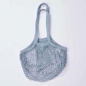 GROCERIES - τσάντα δίχτυ, παστέλ μπλε