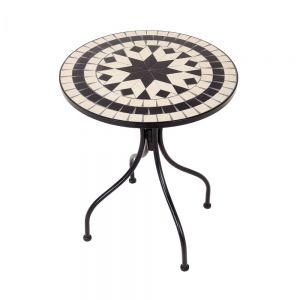 PALAZZO - τραπέζι μπιστρό Δ55cm κρεμ-μαύρο