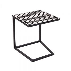 PALAZZO - τραπέζι μαύρο-λευκό