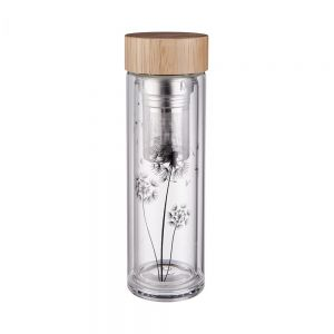 TEA TENDER - μπουκάλι για τσάι με σχέδιο από βοριοπυριτικό γυαλί 450ml