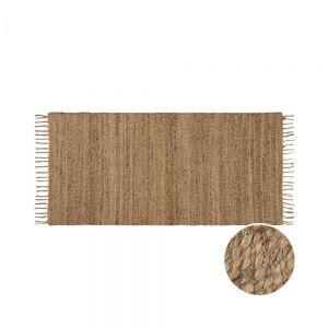 ALL NATURE - χαλί διάδρομος από φύλλα κάνναβης με κρόσσια, 70x140