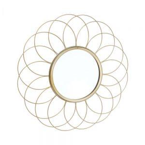 """FIORE - μεταλλικός καθρέπτης σε σχήμα """"λουλούδι"""", Δ 42 cm"""