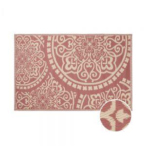 "COLOUR CLASH - χαλί κατάλληλο για εσωτερικούς και εξωτερικούς χώρους ""floral"" 180x118, κόκκινο σκουριάς"