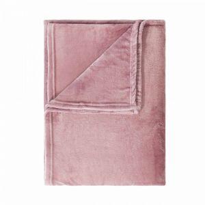 LAZY DAYS - κουβέρτα φλις, ροζ, 150x200 cm