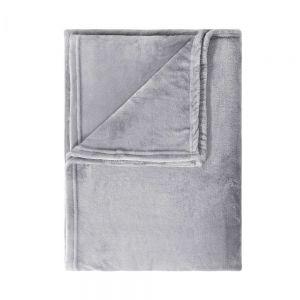 LAZY DAYS - κουβέρτα φλις, γκρι, 150x200 cm