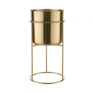 PLANTA - μεταλλικό κασπό με βάση, χρυσή