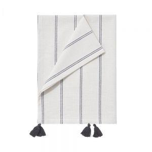 VISBY - πετσέτα κουζίνας, ριγέ με κρόσσια