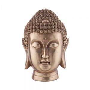 BUDDHA - διακοσμητικό κεφάλι Βούδα 35cm, χρυσό
