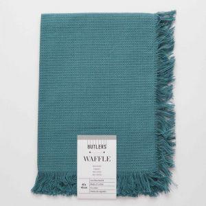 WAFFLE - πετσέτα  με κρόσσια, πράσινο