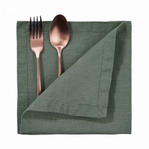 RIGA - πετσέτα φαγητού λινή, 42x42 cm, πράσινο