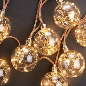 BULB LIGHTS - LED φωτεινή αλυσίδα με λάμπες  και διακοσμητικά
