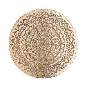 BALI - διακοσμητικό πιάτο ξύλινο, με σχέδια Δ30cm