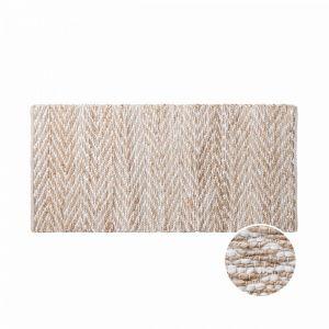 ETHNO LODGE - χαλί διάδρομος 70x140cm, με zigzag, φυσικό