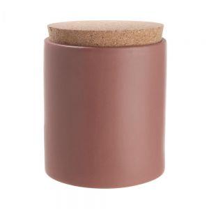 CLAY - δοχείο αποθήκευσης με καπάκι από φελλό, σκούρο κόκκινο