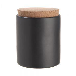 CLAY - δοχείο αποθήκευσης με καπάκι από φελλό, μαύρο