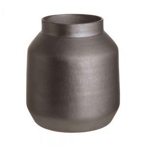 MARTA - κεραμικό βάζο 24,5cm, μαύρο