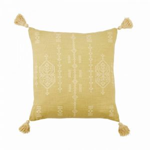 SIENNA - μαξιλάρι, με φούντες, κίτρινο