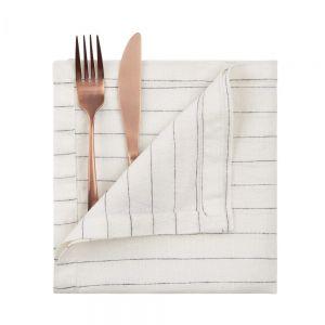 BLURRED LINES - πετσέτα φαγητού, ριγέ, 42x42
