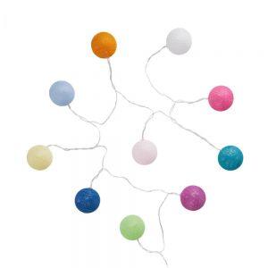 LES BELLES - LED αλυσίδα φωτισμού με μπάλες, πολύχρωμο και καλώδιο USB
