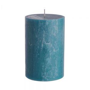 RUSTIC - κερί Δ9,8x15cm, μπλε