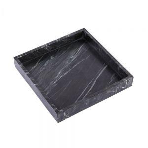 MARBLE - δίσκος μαρμάρινος, μαύρο