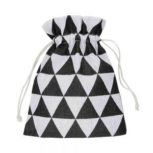 PACK-A-BAG - πουγκί 14x18cm μαύρο/λευκό