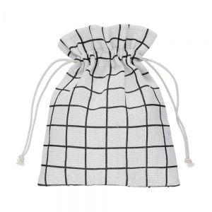 PACK-A-BAG - πουγκί καρό 14x18cm μαύρο/λευκό