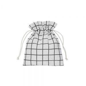 PACK-A-BAG - πουγκί καρό 11x14cm μαύρο/λευκό